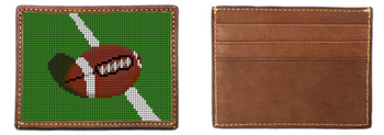 Football Needlepoint Card Wallet