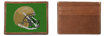 Custom Football Helmet Needlepoint Card Wallet