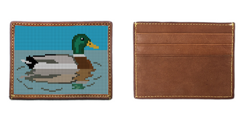 Mallard Needlepoint Card Wallet