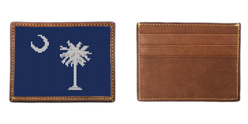 South Carolina Needlepoint Card Wallet