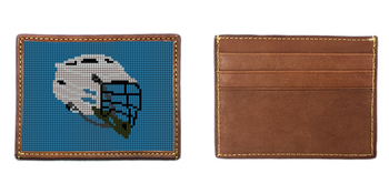 Lacrosse Helmet Needlepoint Card Wallet