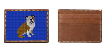 English Bulldog Needlepoint Card Wallet