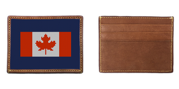 Your Favorite Flag Needlepoint Card Wallet