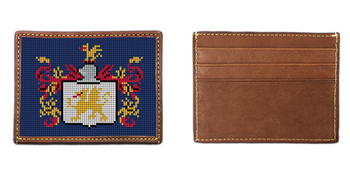 Custom Family Crest Needlepoint Card Wallet