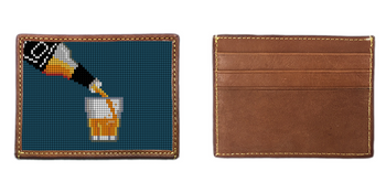 Whiskey Needlepoint Card Wallet
