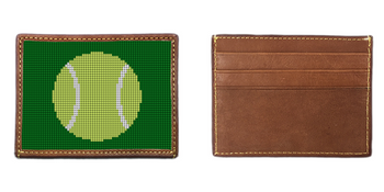 Tennis Ball Needlepoint Card Wallet