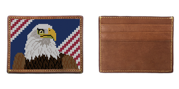 Eagle Needlepoint Card Wallet