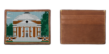 Jefferson's Rotunda Needlepoint Card Wallet