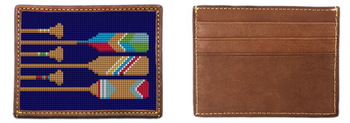 Preppy Paddling Needlepoint Card Wallet