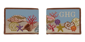Seashell Needlepoint Wallet