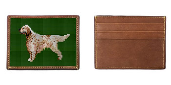 English Setter Needlepoint Card Wallet