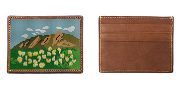 Boulder Flat Irons Needlepoint Card Wallet