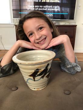 Izzy Lewis-Lady Bird Flower Pot