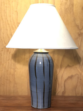 *Lamp-Blue Glaze -2 -Mem. Day Sale Special-FREE SHIPPING!-Harp is included but No Shade