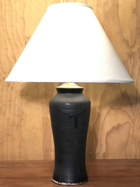 *Lamp- Black Glaze -Mem. Day Sale Special-FREE SHIPPING!-Harp is included but No Shade