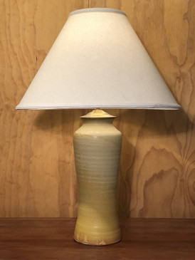 *Lamp-Yellow Glaze -Mem. Day Sale Special-FREE SHIPPING!-Harp is included but No Shade