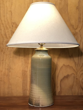 *Lamp-Green Glaze -2 -Mem. Day Sale Special-FREE SHIPPING!-Harp is included but No Shade