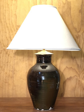 *Lamp-Brown Glaze Thai Shape-Mem. Day Sale Special-FREE SHIPPING!-Harp is included but No Shade