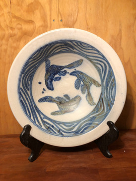 Large Bowl with Fish Pattern For Devon and Jonathan