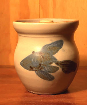 Honeypot with Fish Pattern For Devon and Jonathan --SOLD--