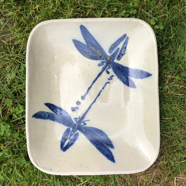 Square Platter with Dragon Fly Pattern For Devon and Jonathan