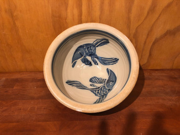 Serving bowl with Fish Decoration for Devon and Jonathan