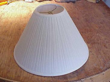 Lampshade-Large White Mushroom Pleat (2)-SJames