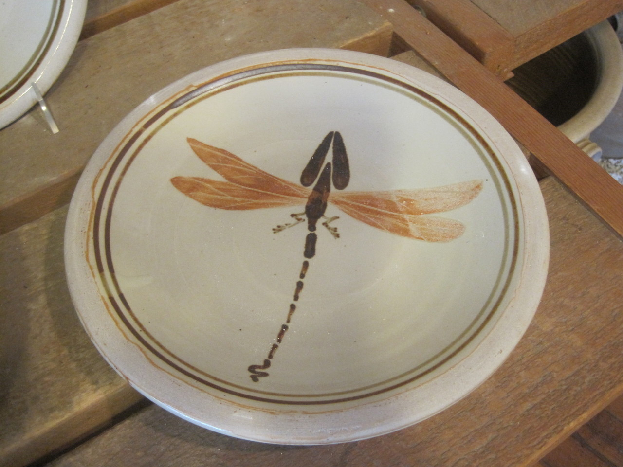 Dinner Plate-1 Dragon Fly MultiColored