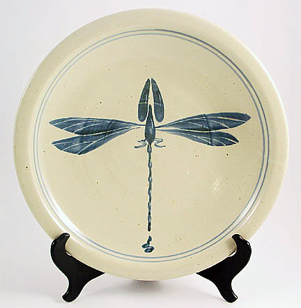 Dinner Plate-1 Dragon Fly in Blue