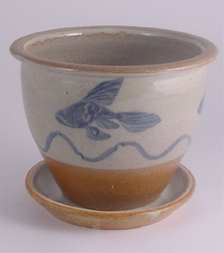 Planter with Fish Decoration-ALL SOLD!