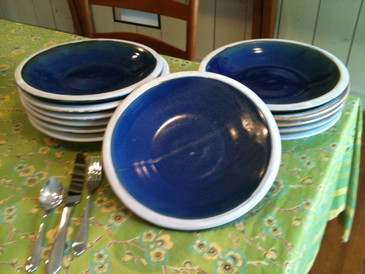 Dinner Plate-Navy Blue--ALL SOLD!
