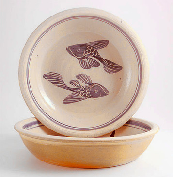 Pie Plate-Fish Decoration--1 remaining!