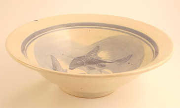 Large Serving Bowl-Blue Fish Pattern--1 remaining!