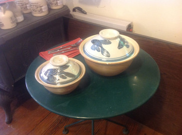 Large Casserole-Fish on Lid--SOLD!