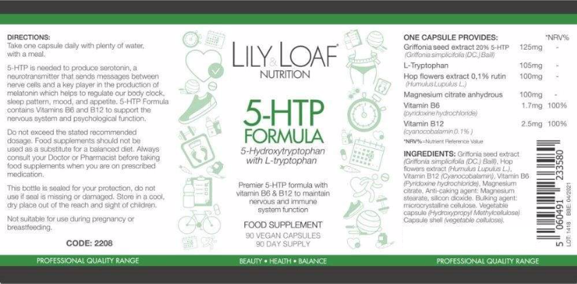 Lily & Loaf - 5 HTP with L-Tryptophan (90 Vegan Capsules)
