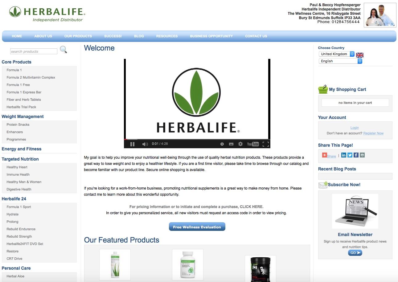 Paul Hopfensperger - Purchase Herbalife Online (UK)