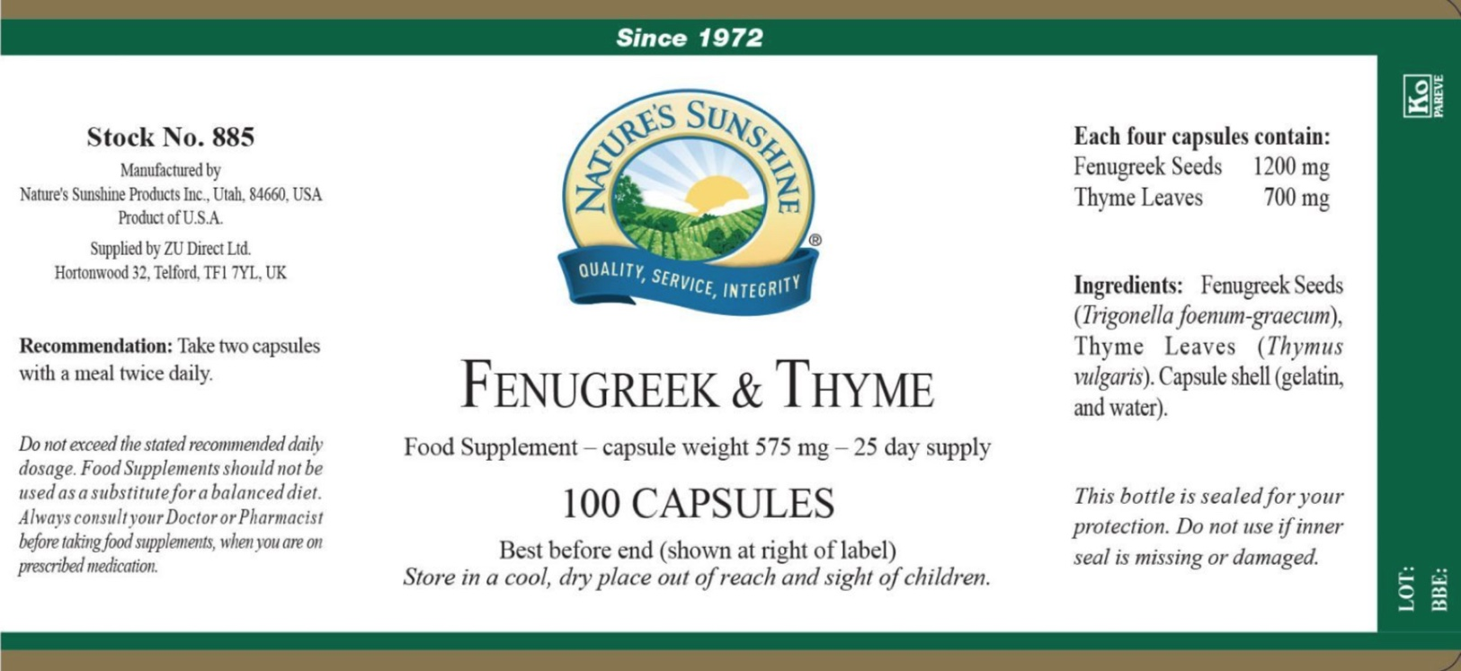 Fenugreek & Thyme - Label