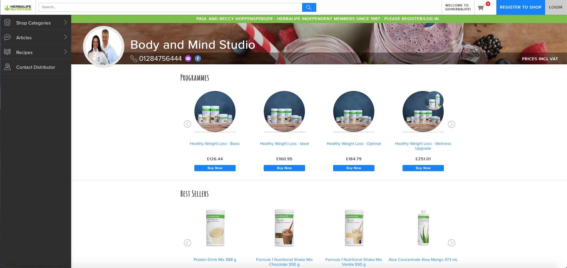 Body and Mind Studio - Herbalife Online Shop