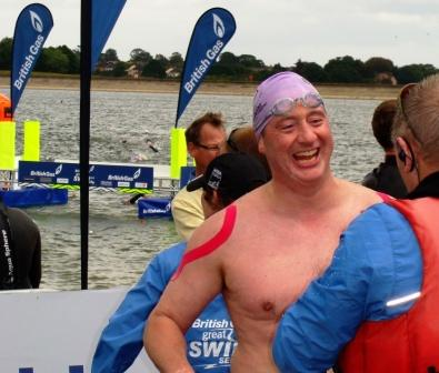 Paul Hopfensperger - Great East Swim using Kinesio Tape