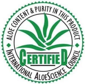 International Aloe Science Council Certified