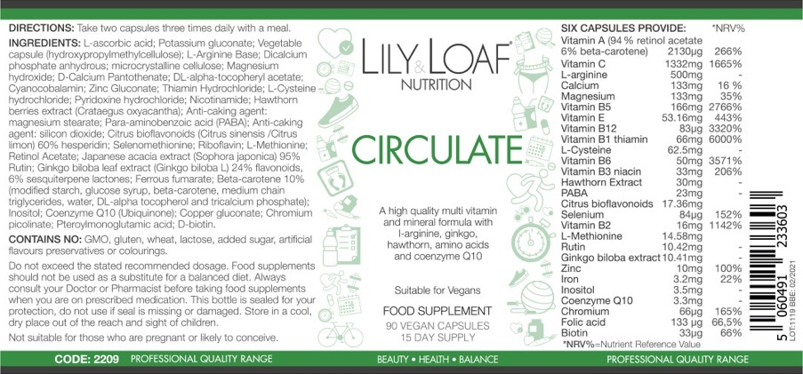 Lily & Loaf - Circulate - Label
