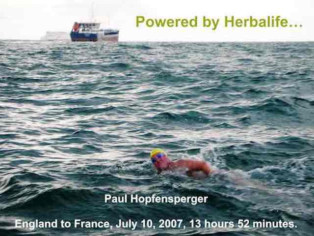 Paul Hopfensperger - English Channel Swimmer Powered by Herbalife