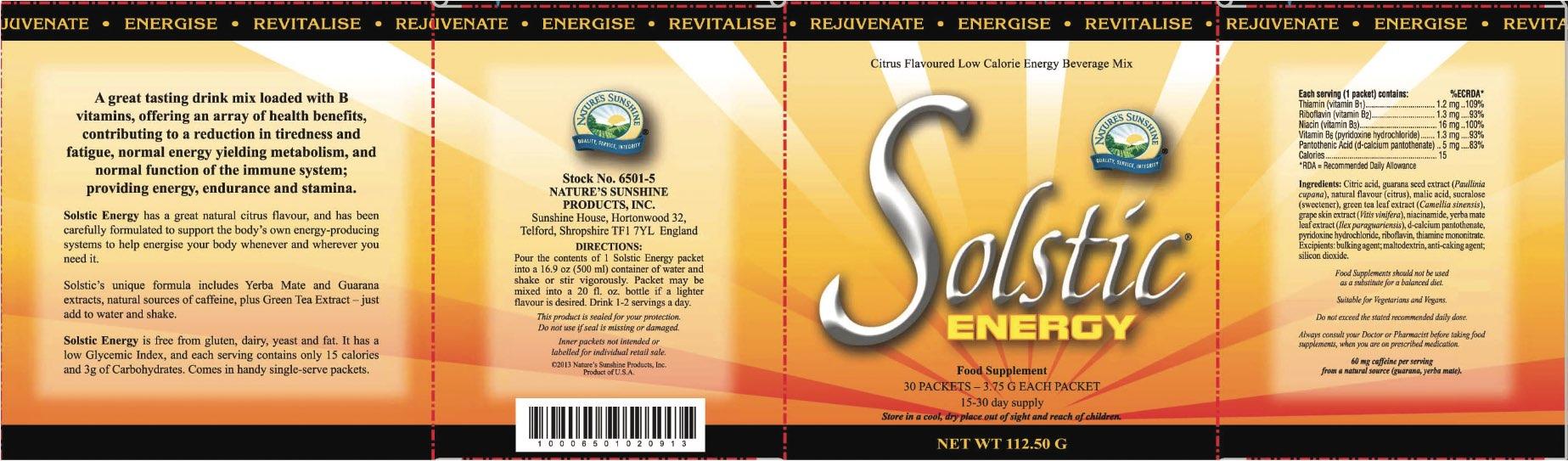Nature's Sunshine - Solstic Energy (30 Sachets) - Label