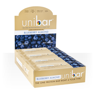 Box of 12 Unibar Blueberry Almond Protein Bars