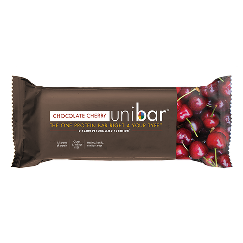 A single 15 gram D'Adamo Personalized Nutrition - Chocolate Cherry Unibar