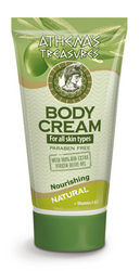 Athena's Treasures Body Cream Natural + Vitamins A & E(150ml)