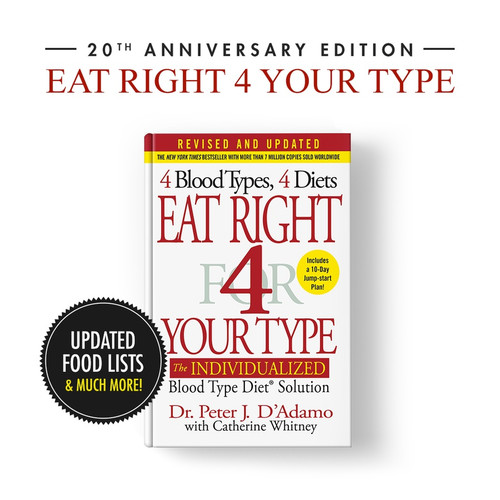 (NEW) Eat Right 4 Your Type (Hardback book)