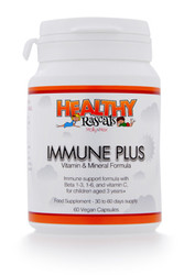 Healthy Rascals - Immune Plus (60 Vegan Capsules) - Bottle