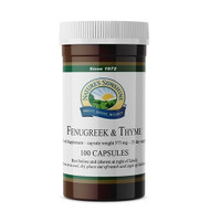 Nature's Sunshine - Fenugreek & Thyme (100 Capsules) - Bottle