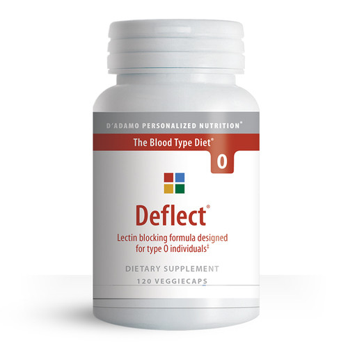 Deflect O - Lectin Blocker for Blood Type O (120 Capsules) - Container